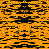 Tiger skin. Abstract yellow seamless pattern — Stock Vector