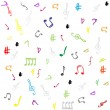 Seamless pattern wallpaper of musical notes vector — Stock Vector
