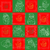 Seamless Christmas Wallpaper Pattern art — Stock Vector