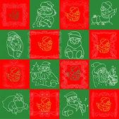 Seamless Christmas Wallpaper Pattern art — Stock Vector