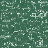 Seamless math elements on school board. — Stock Vector