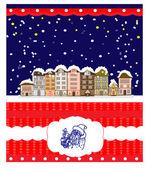 Christmas wenskaart, humor — Stockvector