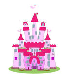 Pink Castle - Vector — Stock Vector