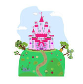 Illustration of a magic castle — Stock Vector