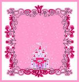 Illustration of Magic Fairy Tale Princess Castle — Stock Vector