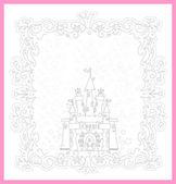 Ilustração da princesa castelo — Vetor de Stock