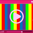 Media player interface — Stock Vector