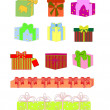 Vector set of colorful gift box symbols — Stockvectorbeeld
