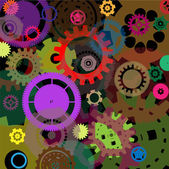Industrial colorful background design — Vecteur