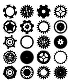 Gears silhouette over white background — Vector de stock