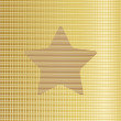 Gold star background. Vector — Stock Vector