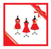 Dresses on a mannequin — Stock Vector