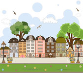 European City Center. Vector Collection. — Stock Vector