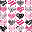 Beautiful seamless vector pattern with hearts — Stock Vector #42894415