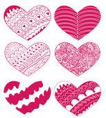 Vektor hjärtan för bröllop och valentine design — Stockvektor