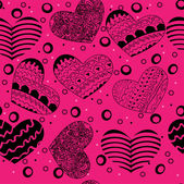 Valentine seamless hearts pattern  with hearts — Vecteur