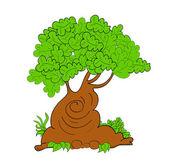 Vector tree illustration art cute — Stock Vector