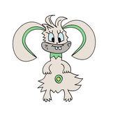 Monster  Bunny Rabbit Vector Illustration — Stock Vector
