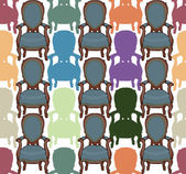Vector pattern with armchairs — Stock Vector