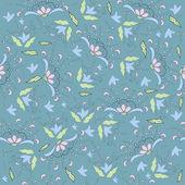 Floral-retro-Tapete. Nahtlose Hintergrund — Stockvektor