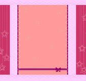 Mallen ramkonstruktion för gratulationskort — Stockvektor