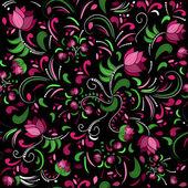 Seamless floral pattern. Vector illustration. — Stock Vector