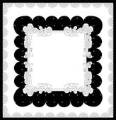 Elegant card in black and white. — Vettoriale Stock