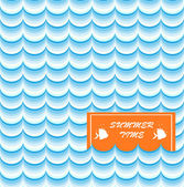 Summer Card Print — Vettoriale Stock