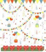 Birthday vector background — Stock Vector