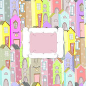 City background frame — Stockvektor
