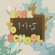 Back to school vector — Vector de stock