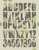 Retro alphabet — Stock Vector