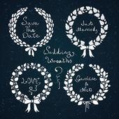Wedding wreath set — Stock Vector