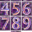 Numbering on a violet background. — Stock Photo