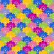 Floral vivid seamless pattern with colorful flowers — Imagen vectorial
