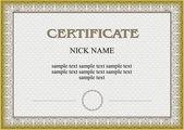 Certificate, diploma for print — Stock Vector