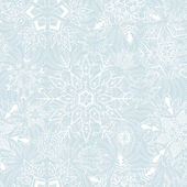 Seamless snowflakes background for winter and christmas theme — Stock Vector