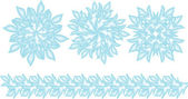 Set of blue vector snowflakes — Stock Vector