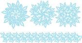 Aantal blauwe vector sneeuwvlokken — Stockvector