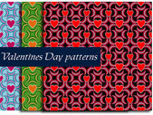 Valentines Day pattern with Hearts — Stock Vector