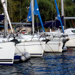 Stock Photo: Boats moored in marinMarmaris
