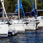Boats moored in the marina Marmaris — Stock Photo