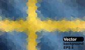 Bandera sueca de formas geométricas. — Vector de stock