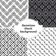 Set of black and white patterns — Stockvektor
