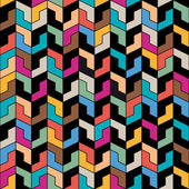 Pattern of geometric shapes — Stock Vector