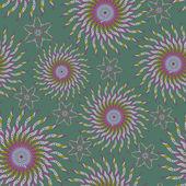 Coloridos patrones sin fisuras - flores abstractas — Vector de stock