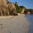 Stock Photo: Beach Anse Source á Jeon island of LDigue, Seychelles