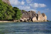 Anse Source á Jean, La Digue, Seychellen — Stock Photo