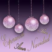 новогодний фон в фиолетовых тонах — Стоковое фото