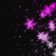 Pink stars on black - Stock Photo
